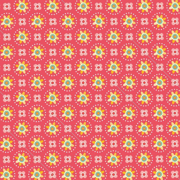 Fower pattern red