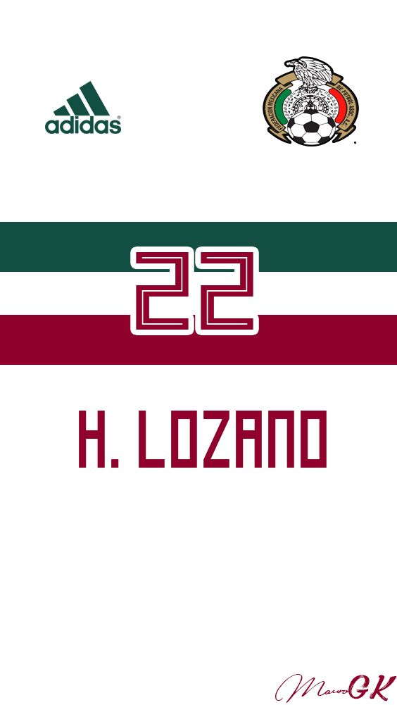 1e48d538f Mexico Visitante Lozano 2 Jersey 2018 MauroGK Chuky Lozano