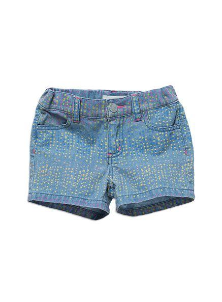Pumpkin Patch - print denim shorts