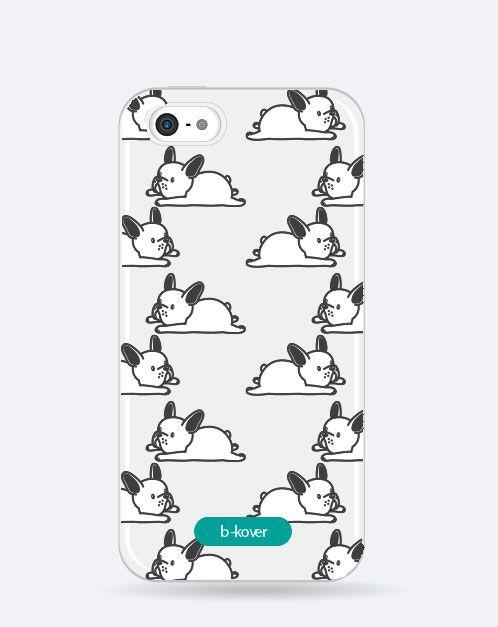 Funda móvil transparente Cute Perritos tumbado | b-Kover