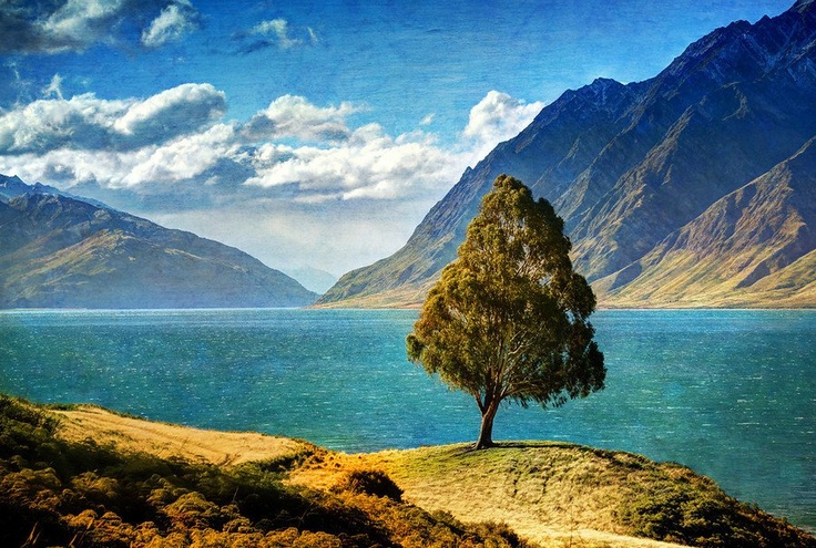 Driving along Lake Hawea, New Zealand -- from #treyratcliff at www.StuckInCustom... - all images Creative Commons Noncommercial.