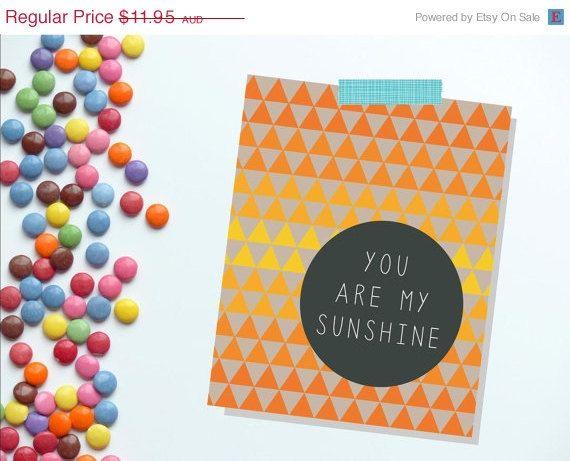 You Are My Sunshine Wall Art. Childrens Nursery Decor. Kids Room Decor.