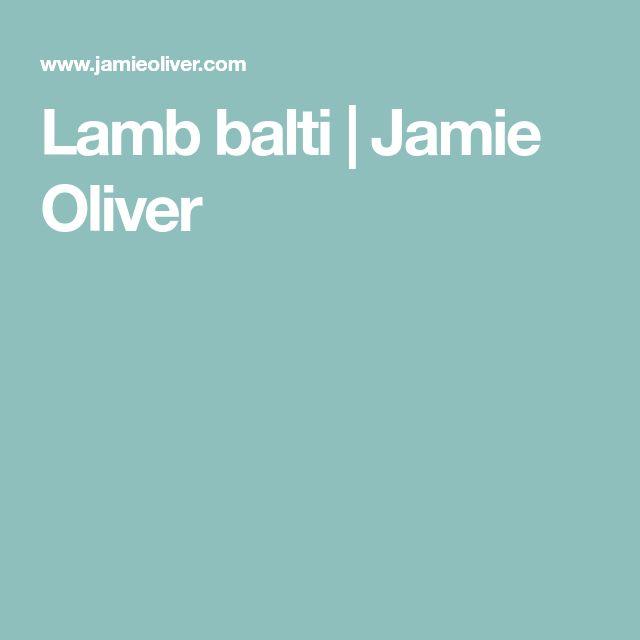 Lamb balti   Jamie Oliver