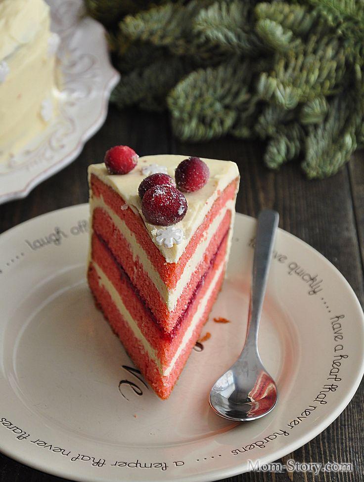 Клюквенный торт с белым шоколадом - Mom Story