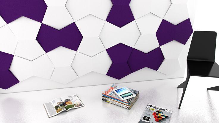 Pomysł na ściankę działową z wykorzystaniem paneli ściennych Fluffo (kolekcja CHAIN - Fluffo, Fabryka Miękkich Ścian)