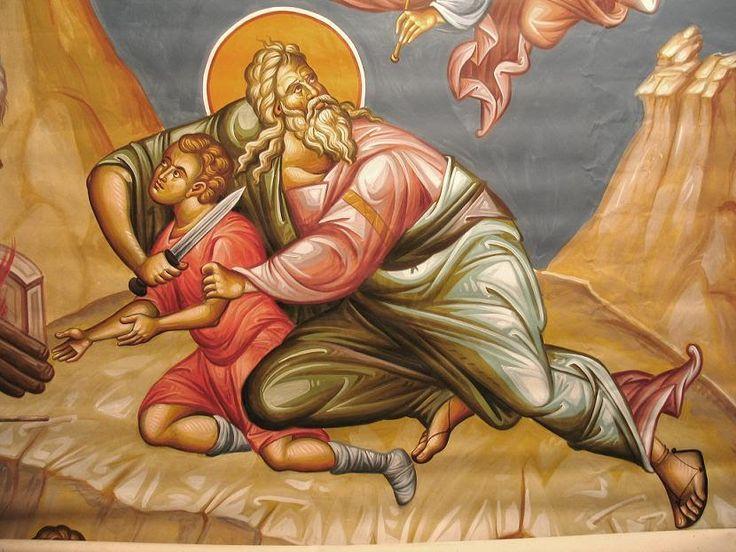 Byzantine icons and church murals. Δημήτριος Σκουρτέλης Η θυσία του Αβραάμ
