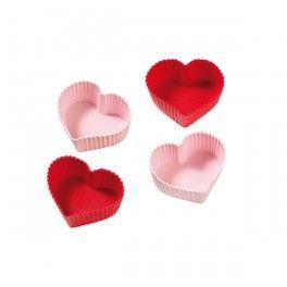 Foremki do muffinów i deserów SERCA - 4 szt. #bakeshop #love #heart #baking