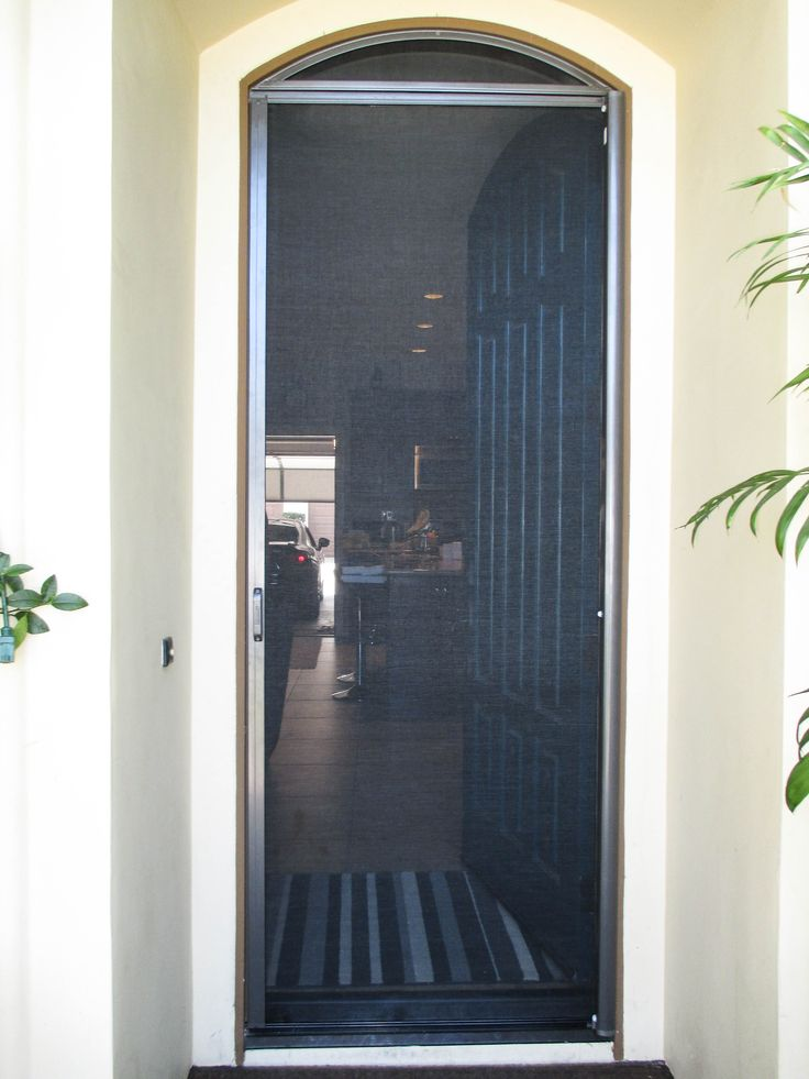 19 best arched double door stowaway retractable screens for Best retractable screen doors