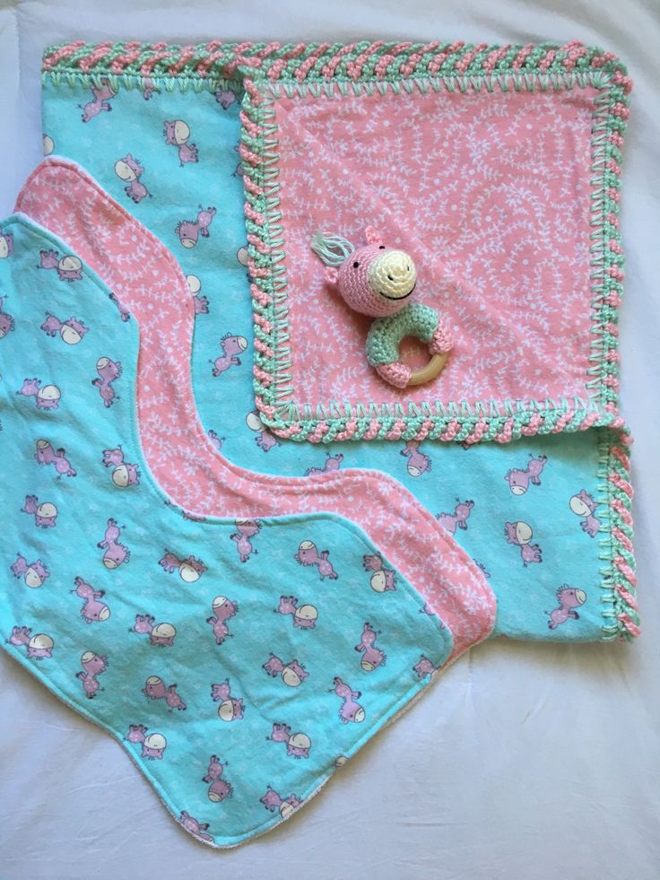 A personal favorite from my Etsy shop https://www.etsy.com/ca/listing/548280748/baby-gift-set-that-includes-a-flannel