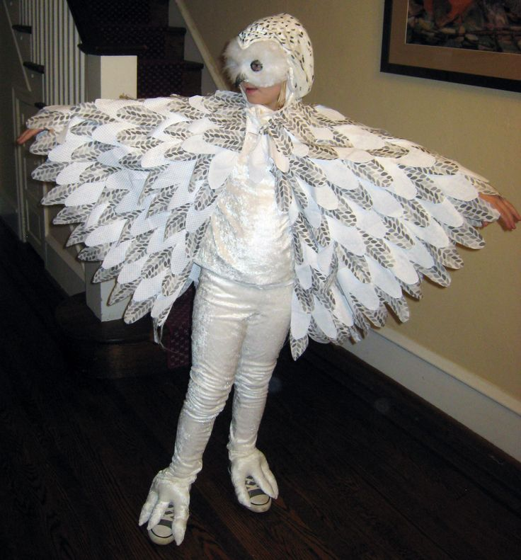 Homemade Halloween Costume Hedwig the Snowy Owl - from Harry Potter