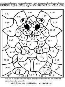 Coloriage magique de multiplication