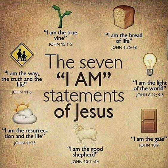 "The seven ""I am"" statements of Jesus."