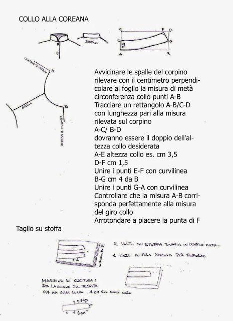 I Quaderni di Studio Manie: REGOLA PER COSTRUIRE IL COLLETTO ALLA COREANA