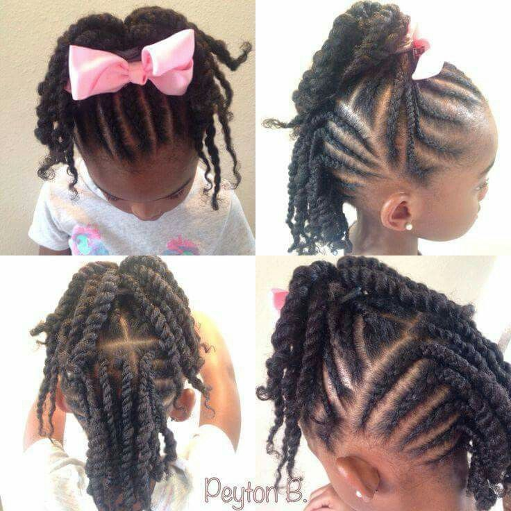 Admirable 1000 Images About Vayiah Hair On Pinterest Twists Little Girl Short Hairstyles For Black Women Fulllsitofus