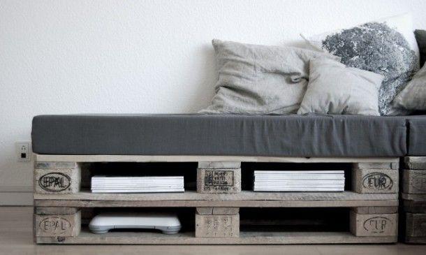 Interieur ideeën zelf maken | pallet inspiratie - mooi met een vierkant foam kussen Door Jennifernijhuis
