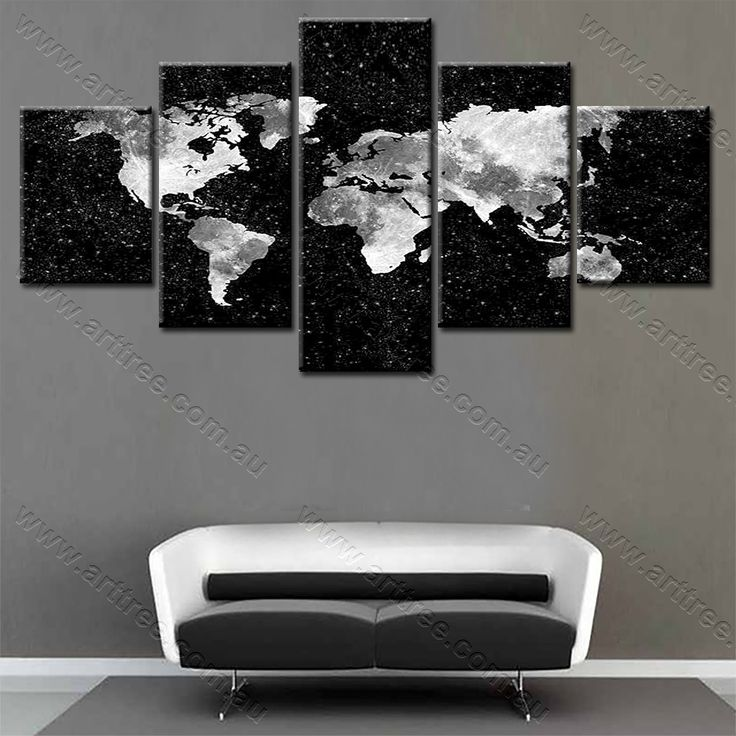 Black and White World Map framed canvas prints online for easy diy wall decor #roomdecor #diy #popular