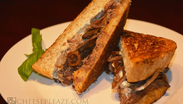 Grilled Roast Beef &  Blue Cheese Sandwich. Grilled cheese with an adult twist. Hardy, warming and delicious!