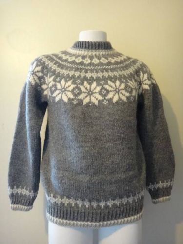 Dale of Norway Mens Gray Wool Pullover Knit Nordic Sweater Size M | eBay
