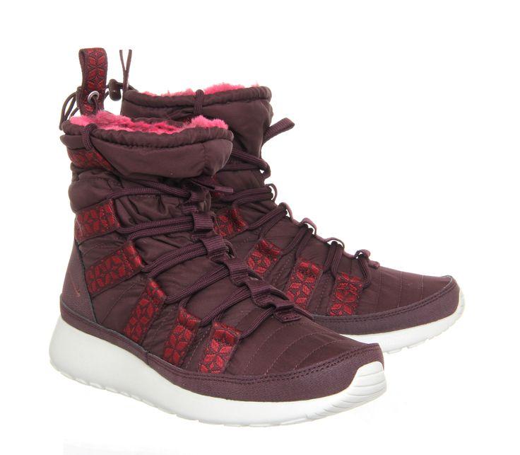 nike wmns roshe run hi sneaker boot print on moon