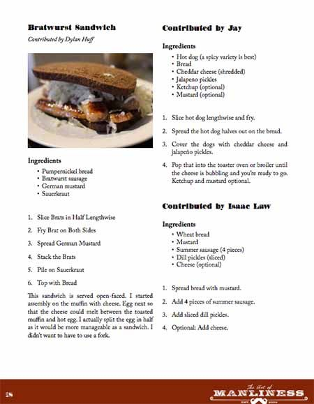 Get the FREE AoM Sandwich Recipe E-Cookbook
