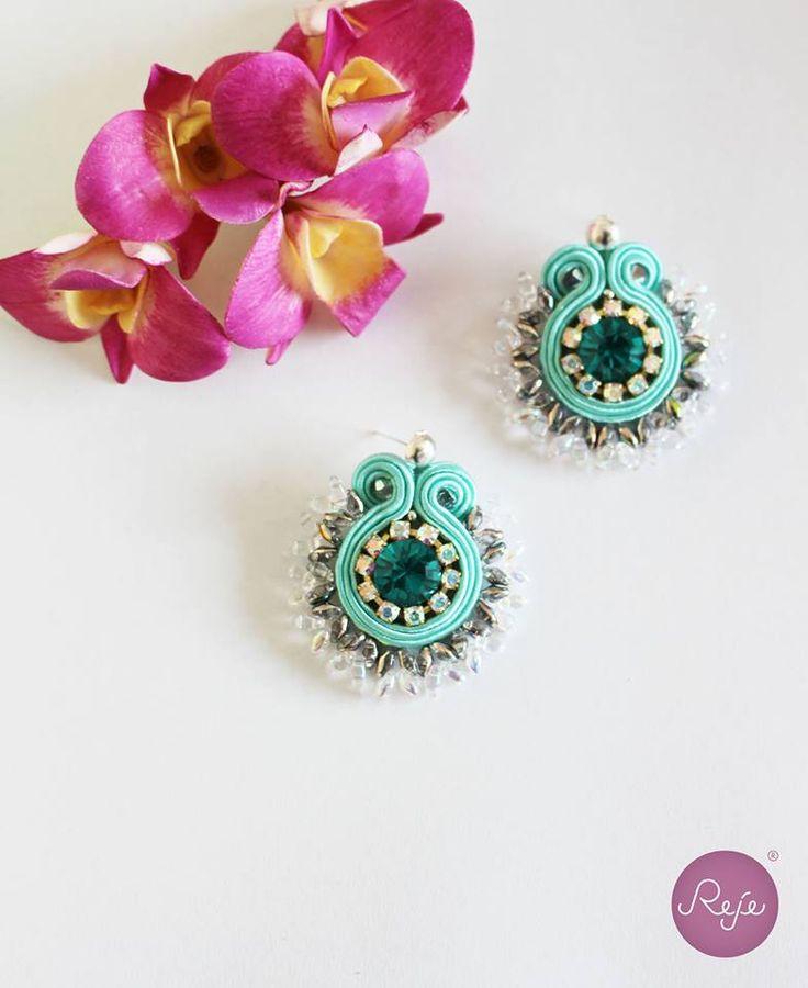 Soutache jewelry, soutache earrings, crystal earrings, colorful earrings, handmade in Italy ETSY SHOP: https://www.etsy.com/it/shop/Rejesoutache?ref=hdr_shop_menu FACEBOOK: https://www.facebook.com/rejegioielliinsoutache/
