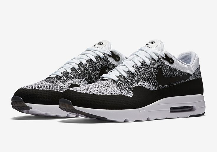 nike air max 90 formateur - 843384-100-nike-air-max-1-ultra-flyknit-Black-White-01 | Beautiful ...