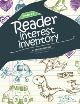 Reader Interest Inventory: 3-5--Use Reader Interest Inventories to get to know your students better as readers. Knowing more about what your students like will help you determine what they might like to read. Taking time to do Interest Inventories is an investment that will pay dividends later, especially for the struggling readers who often believe there isn't anything they would enjoy reading. (Also available for Grades K-2 and Grades 6-12.) FREE!