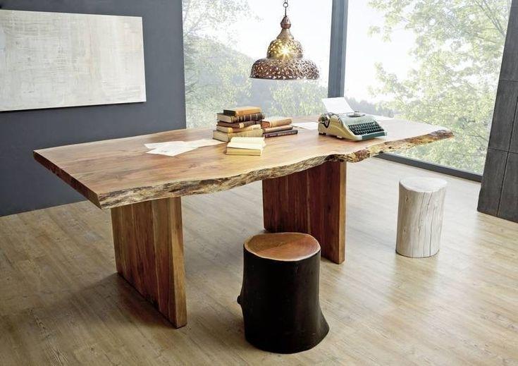 Die besten 25 esstisch holz metall ideen auf pinterest - Baumtisch esszimmer ...