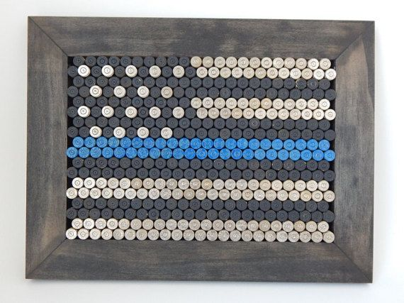 AMERICAN LEO: Thin Blue Line flag for Police and Law Enforcement Officers