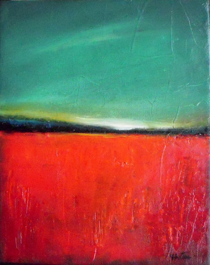 Poppy Field- Original oil painting- abstract landscape ...