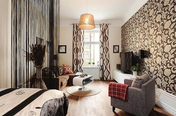 Stunning Men Apartment As Simple And Sophisticated Idea : Modern Studio  Apartment Ideas For Men Floral Broen Black Decor