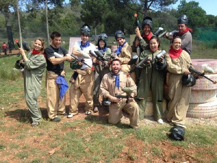 The battle starts! Paintball is the perfect activity for stag parties in #Barcelona.