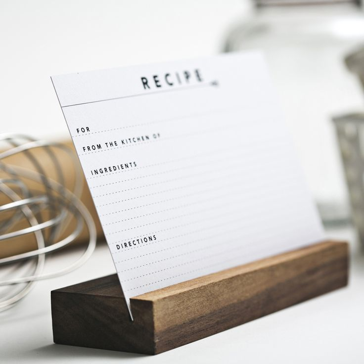 make this -recipe card holder