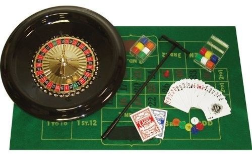 Poker-16-Inch-Deluxe-Roulette-Set-with-Accessories-Best-Gift-Christmas-Games-New