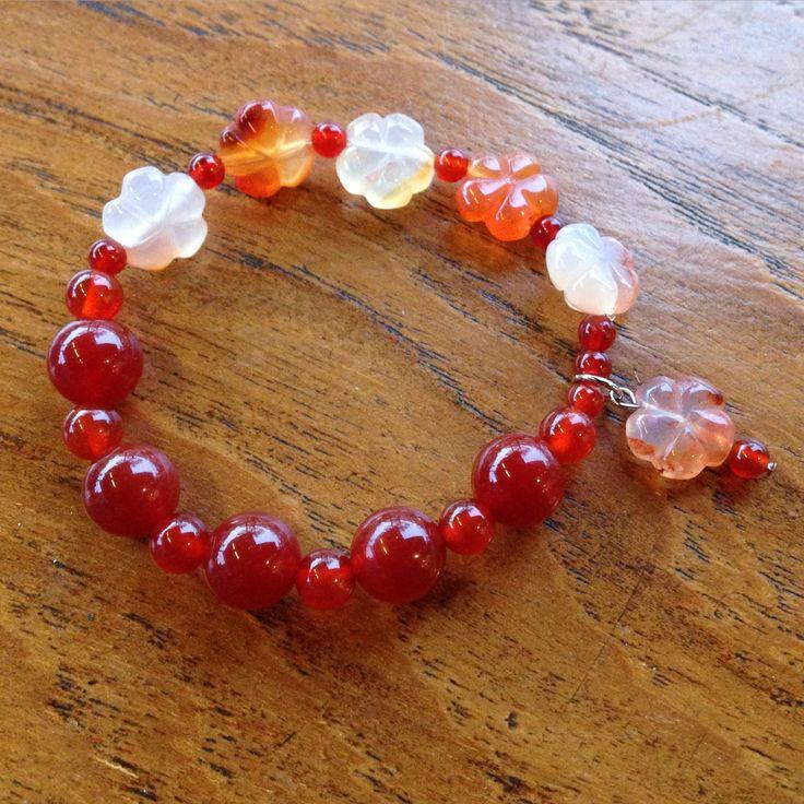 Carnelian & Red Agate bracelet