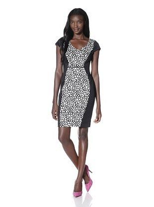 Marc New York Women's Print Inset Dress