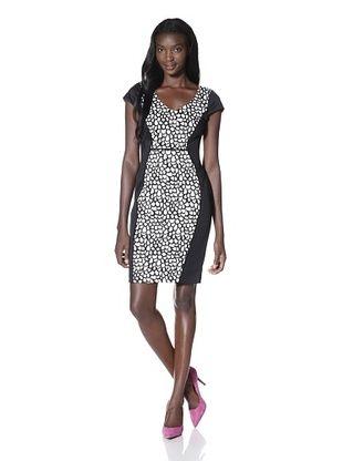 Marc New York Women's Print Inset Dress
