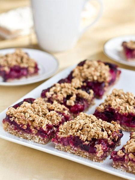Blueberry, Banana, & Strawberry Oat Squares. No added fat, vegan, and easily made GF