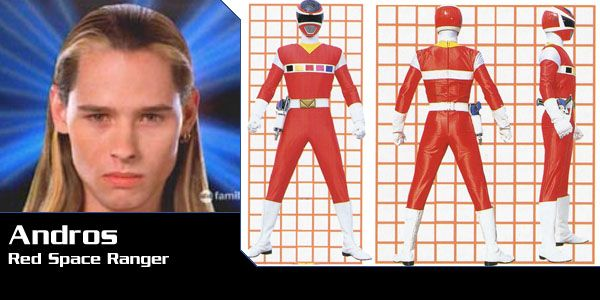My favourite red rangers in all power rangers is andros the leader of the space ranger. He is so cool and he is very brave and friendly too