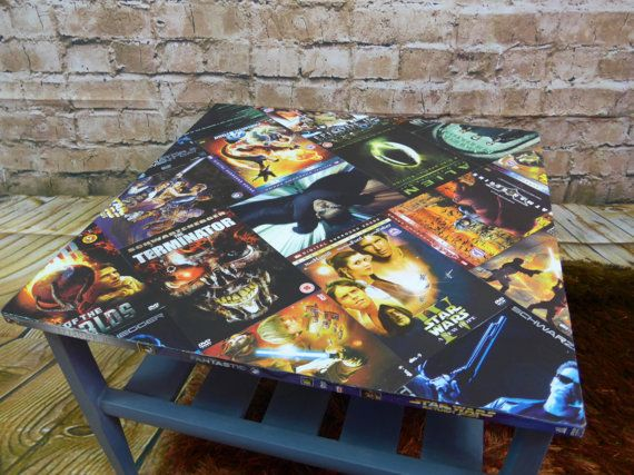 #Upcycled #Retro 1970's Myer Coffee Table  #Sci-Fi DVD by RevampedUp #StarWars