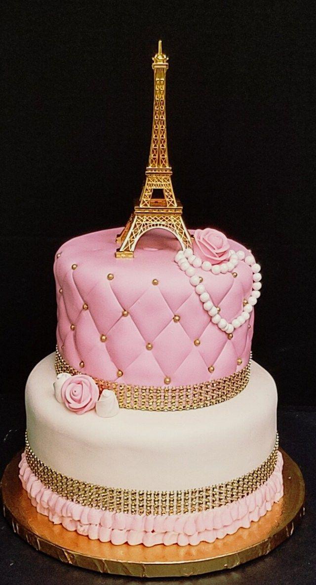32+ Hübsches Bild von Paris Geburtstagstorte. Paris-Geburtstags-Kuchen Paris-themenorientierter Kuchen   – Jackelyn's Party