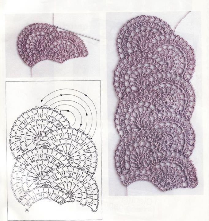 What a nice crochet motif for a scarf!! Pffffff!!! So many patterns and only two hands...