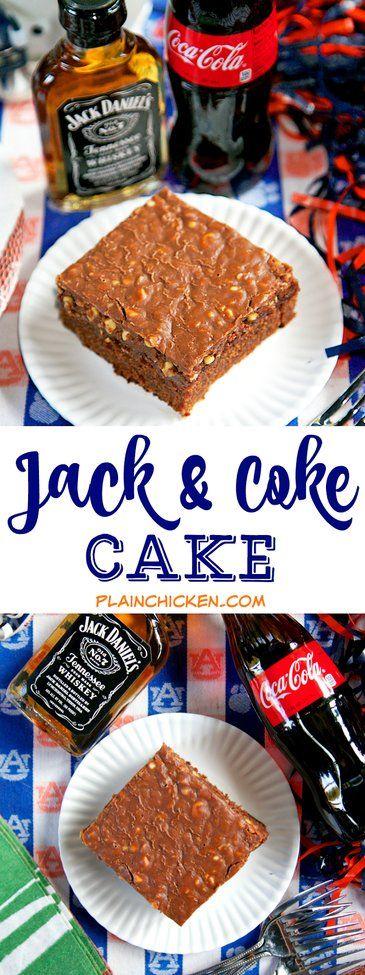 Jack and Coke Alcohol Cake {Football Friday} | Plain Chicken