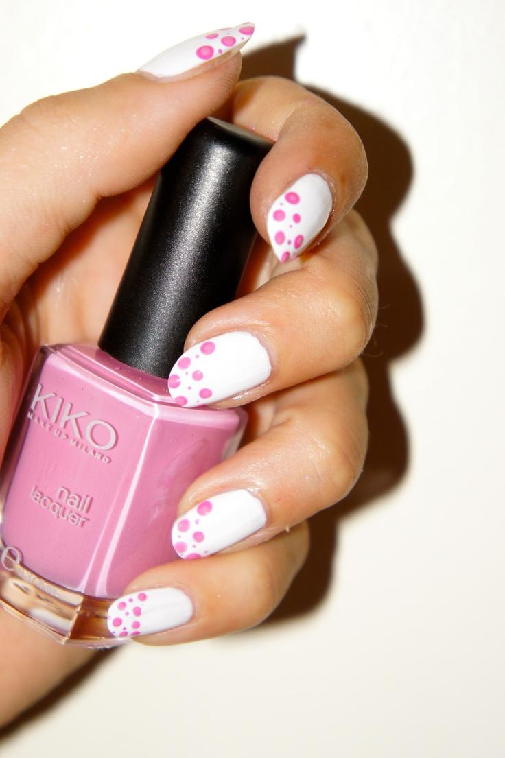 Dotting tool, pink nails Kiko