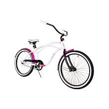 Your little one will be riding around town in style with this Hello Kitty Dynacraft 24 inch Cruiser bike.