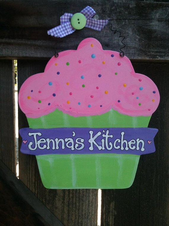 LOVE THESE! Large  CUPCAKE Room Decor Bakeshop or Kitchen by EvansCraftHut, $9.50