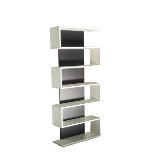 biblioteca en s rack minimalista diseño moderno
