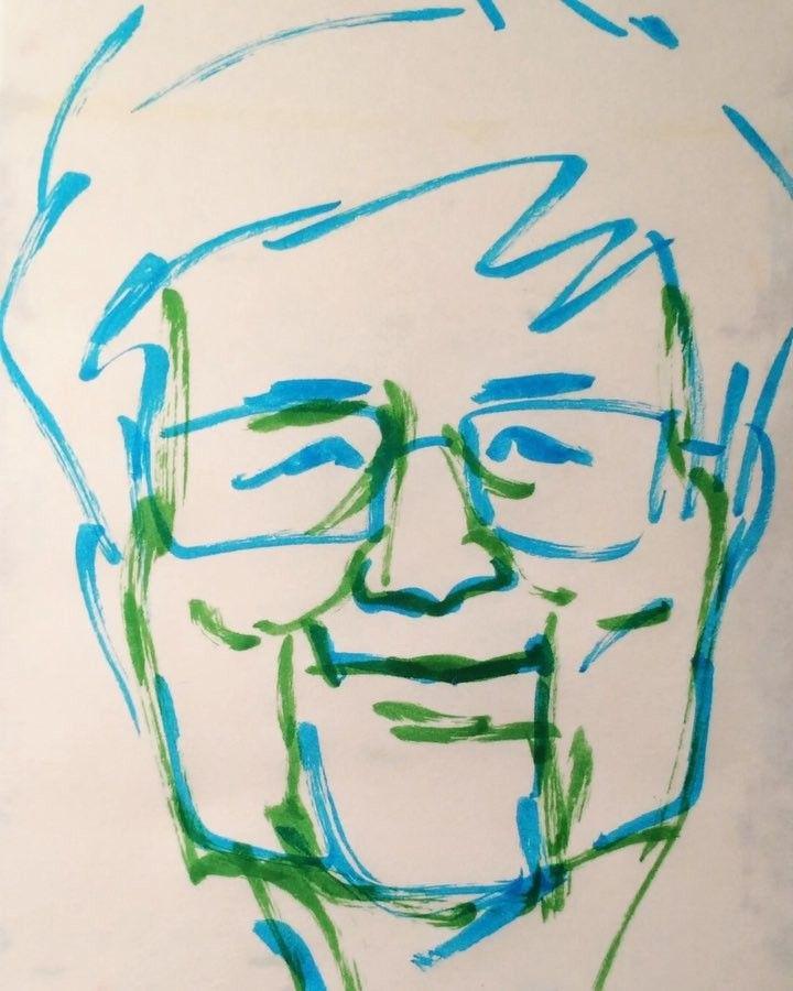 いいね!23件、コメント1件 ― @1mindrawのInstagramアカウント: 「#youroutakeshi #養老孟司 #anatomist #解剖学者 #バカの壁 #19371111 #birthday #1mindraw #一分描画 #誕生日 #portrait…」