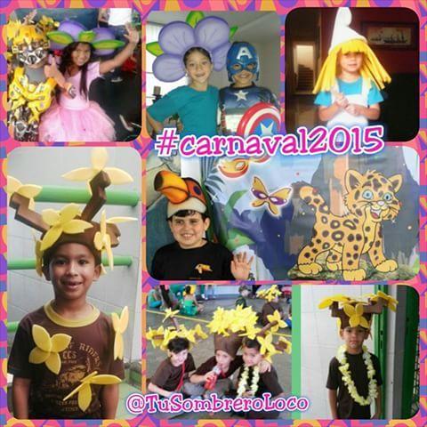 Gracias a todos los padres que nos envían fotos de sus #niños disfrutando el #carnaval2015 con nuestros #arteengomaespuma para sus #disfraces #comparsas #desfiles #actoescolar #infantil #evento #TuSombreroLoco #clientesatisfechos