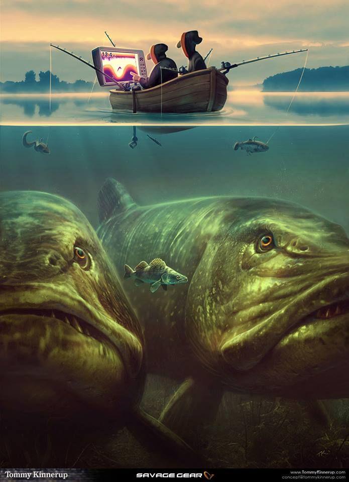 ป กพ นโดย Klinz ใน Ai ตกปลา ส ตว ใต ทะเลล ก ส ตว แฟนตาซ